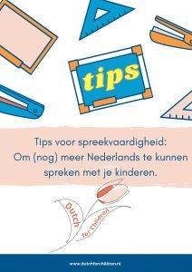 Tips om meer Nederlands te spreken.