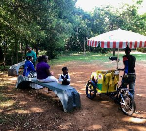 In het Dominicaanse park in de stad Santo Domingo.